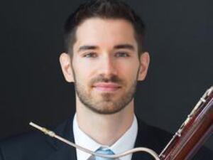 Drew Pattison with bassoon