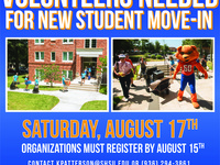 Volunteers Needed for New Student Move-In