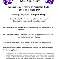 Kansas River Valley Experiment Field 2019 Fall Field Day