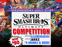 Super Smash Bros Ultimate Competition! Win $50! No Cover!