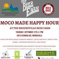 MoCo Made Happy Hour at the Brookeville Beer Farm