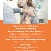 Conditions Affecting Sexual Development and Fertility: Updates in Evaluation and Management