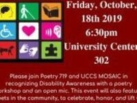 Disability Awareness Month Poetry Night
