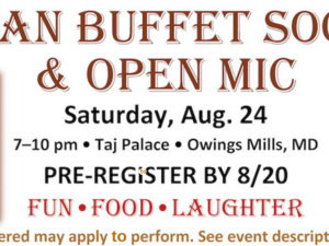 Join Mixolo: Indian Vegan Buffet Social and Open Mic Night