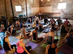 Beer Yoga at Slow Pour Brewery