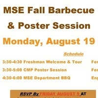 MSE Welcome Back Barbeque & Poster Session