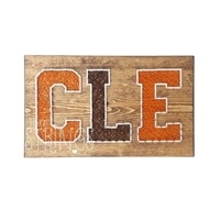 "Whet Your Palette ""CLE"" Browns String Art"