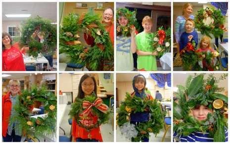 Wintry Wreaths- Wednesday, December 4