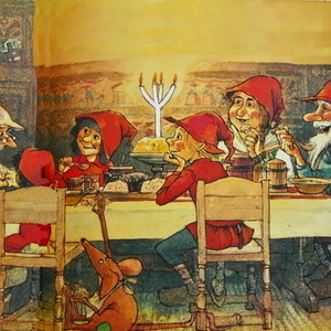 """The Tomtes' Christmas Porridge: A Wintry Mix of Scandinavian Story and Song"""