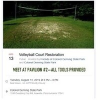 Volleyball Court Restoration at Colonel Denning