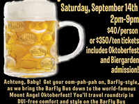 BarFly Bus Express to Mt Angel Oktoberfest
