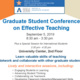 Graduate Student Conference on Effective Teaching