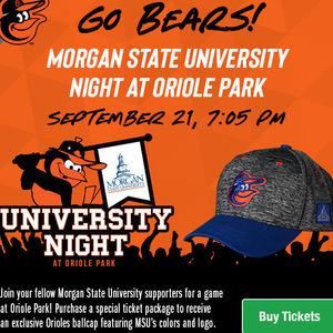 Morgan State University Night at Oriole Park