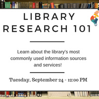 Library Research 101 Workshop