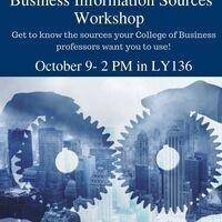 Business Information Sources Workshop