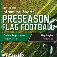 Pre-Season Flag Football Registration - Statesboro