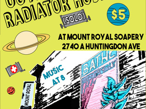 Radiator Hospital (solo) and Outer Spaces (solo) @ Mount Royal Soaps
