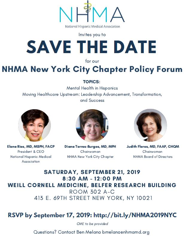 SAVE THE DATE for our NHMA New York City Chapter Policy Forum