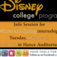 JWU CLT Disney Info Session