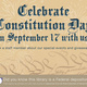 Constitution Day Celebration