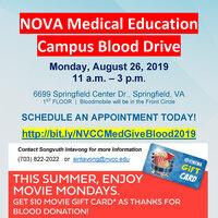 August 2019 INOVA/NOVA Blood Drive