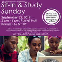 Sit-In & Study Sunday