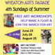 Final SUMMER SATURDAY - FREE PARADE ART WORKSHOP
