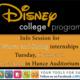 Disney Culinary & Pastry Internship Interviews