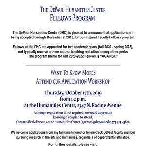 Humanities Center Faculty Fellows Application Workshop