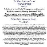 Humanities Center Faculty Fellows Application DEADLINE