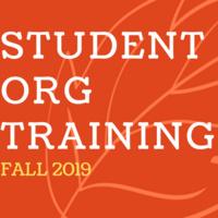 Student Organization Training