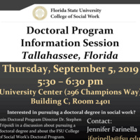 Doctoral Program Information Session - Tallahassee