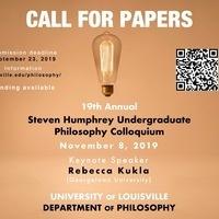 19th Annual Steven Humphrey Undergraduate Philosophy Colloquium