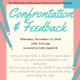 Confrontation & Feedback