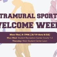 Intramural Welcome Week