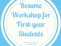 Meet-Up: Resume Workshop for First-Year Students