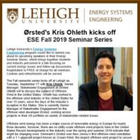Energy Systems Engineering: Seminar Series