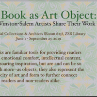 Artist Demo and Exhibit Reception: The Book as Art Object