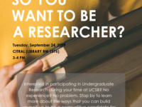 So You Want to Be a Researcher?