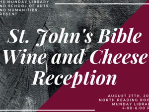 St. John's Bible Wine and Cheese Reception