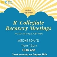 R'Collegiate Recovery Meetings