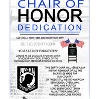 Chair of Honor Dedication