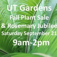 Fabulous Fall Plant Sale & Rosemary Jubilee