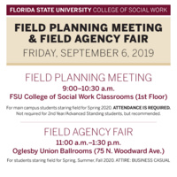 Field Planning Meeting & Field Agency Fair (Main Campus)
