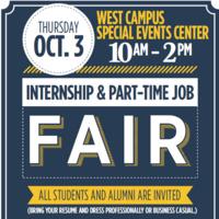 Fall Internship & Part-time Job Fair
