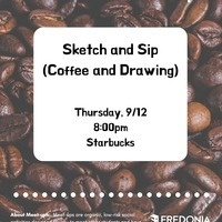 New Student Meet-ups: Sketch & Sip (Coffee and Drawing)