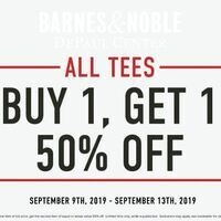 Buy One Get One 50% Off Entire Stock of Tees