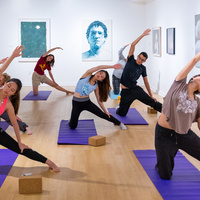Yoga at the Fisher Museum