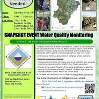 Community Volunteer Water Monitoring Snapshot Event