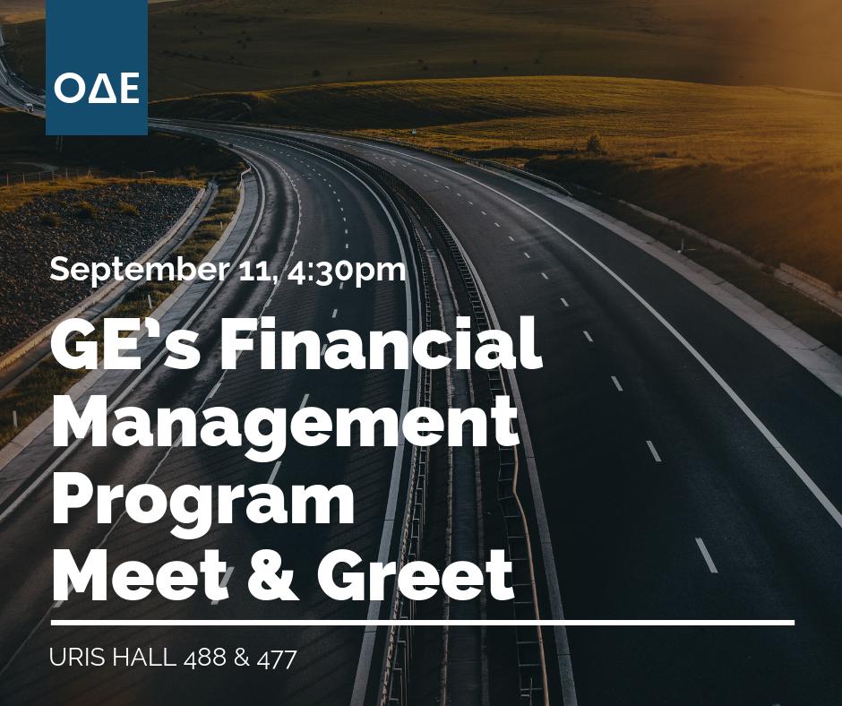 GE's Financial Management Program Meet & Greet
